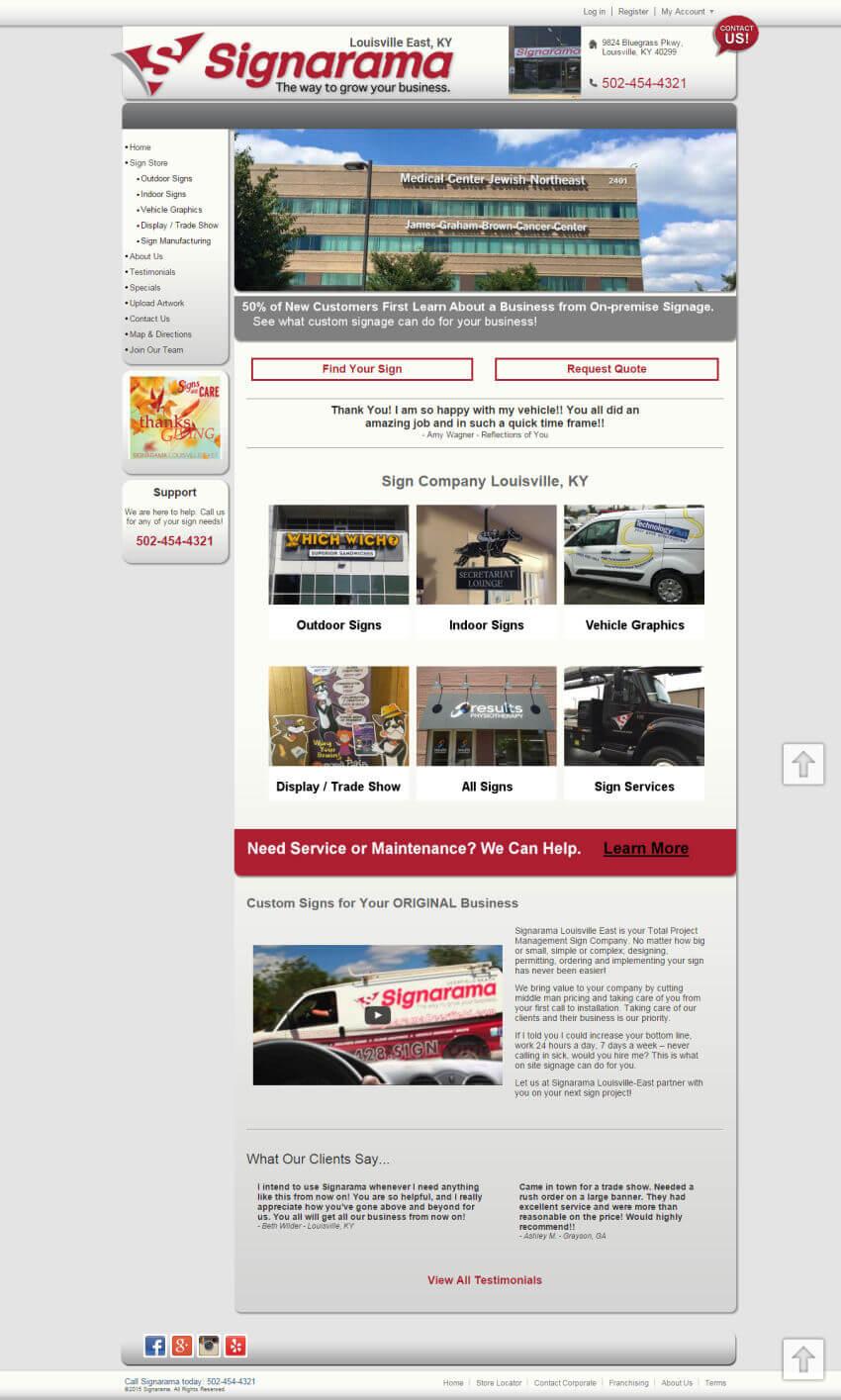 signarama louisville east homepage - after