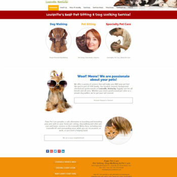 Paws Pet Care - Homepage Before