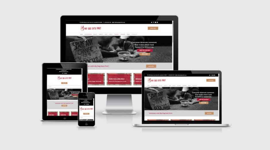 Responsive WordPress Web Design - My Dog Eats First