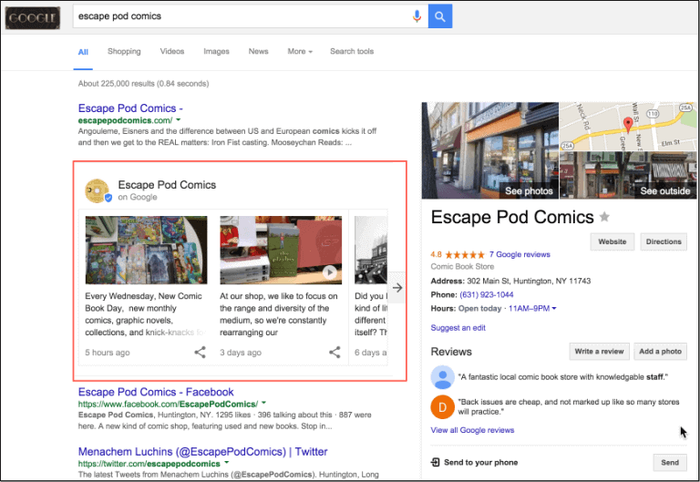 Google's experiment hopes to provide more brand information on the search results page to online customers.