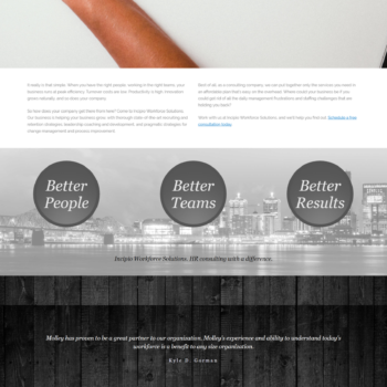 incipioworks homepage - before