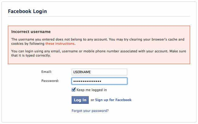 Facebook Login - Louisville, KY