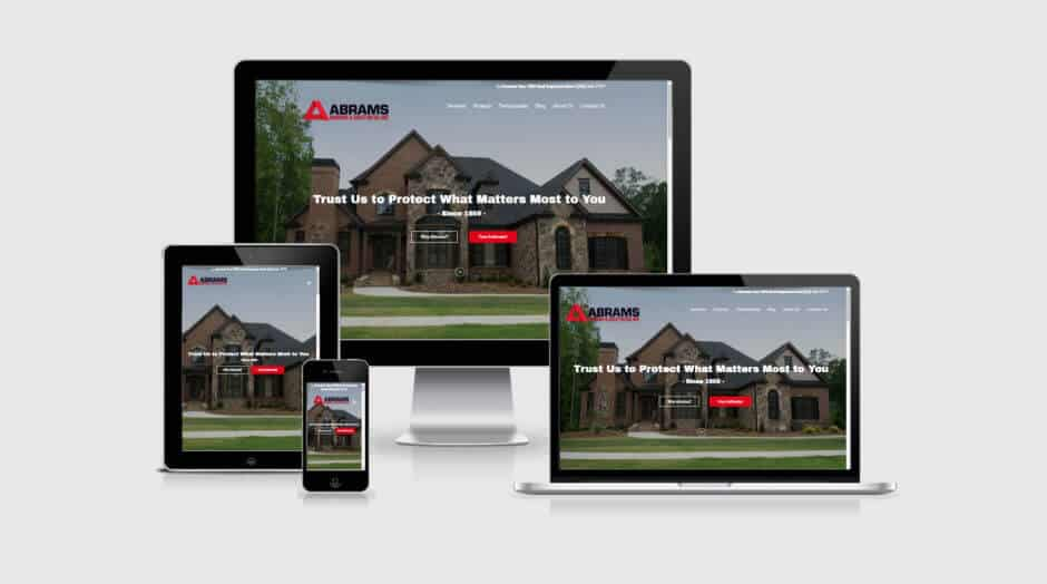 Responsive WordPress Web Design - Abrams Roofing