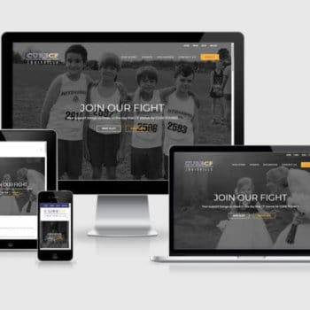 Responsive Wordpress Web Design - Cure CF Inc