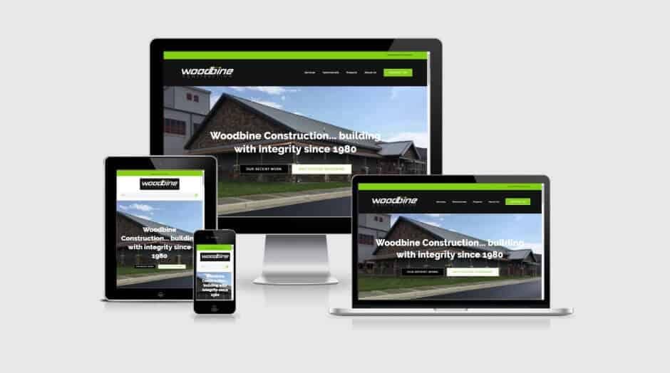 Responsive WordPress Web Design - Woodbine Construction
