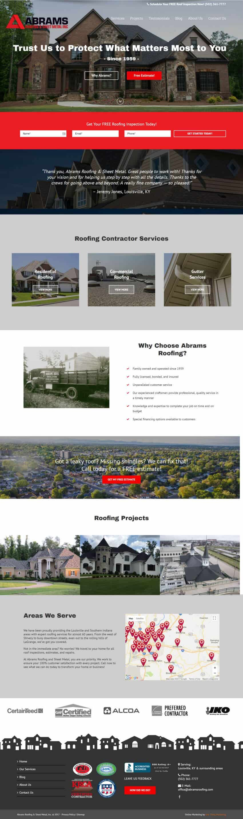 Abrams Roofing Homepage - After