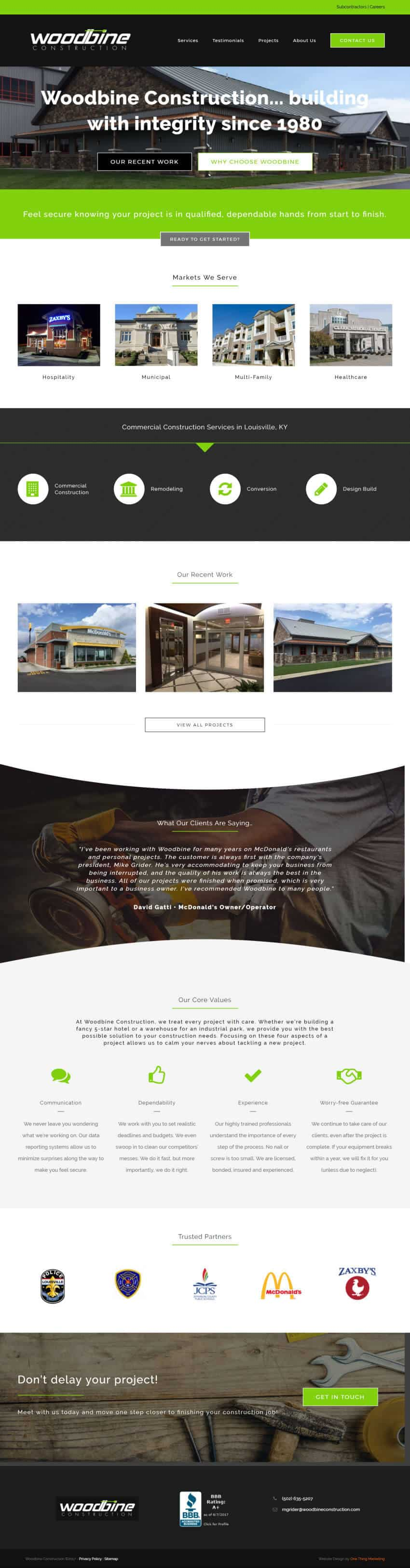 Woodbineconstruction Homepage - After
