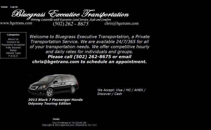 bluegrassexecutivetransportation home - before