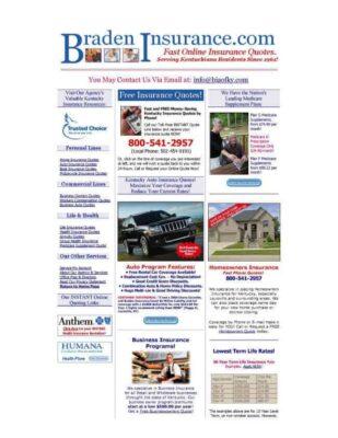 bradeninsurance homepage - before