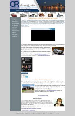 claudereynoldsinsurance homepage - before