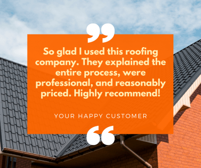 Market current reviews of your roofing company on social media to attract new leads.