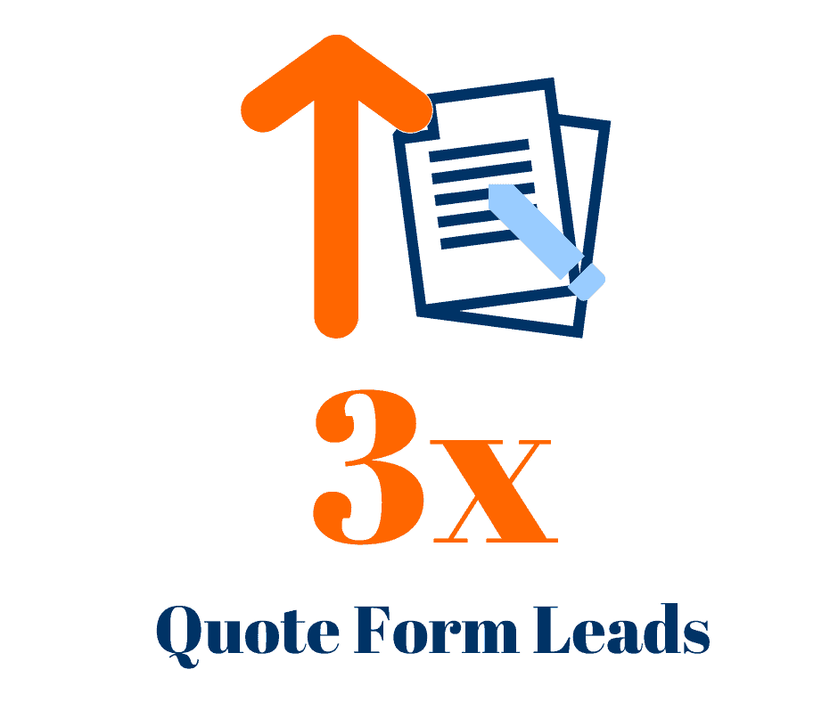 Our paving client saw an increase in quote form leads by 3x.