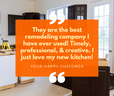 When your remodeling company gets a new review, market it on social media to attract new leads.