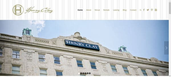 The Henry Clay business website in Louisville, KY.